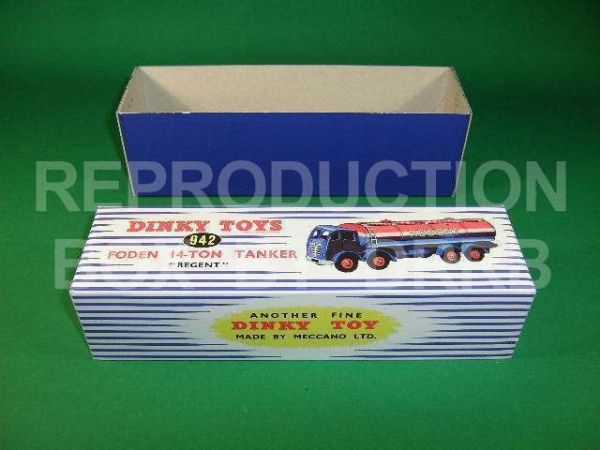 Dinky #942 Foden 14T Tanker - 'Regent' - Reproduction Box